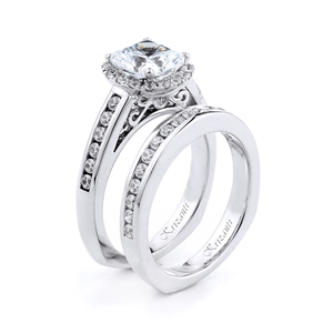 18KT.W ENGAGEMENT SET DIAMOND 0.70CT