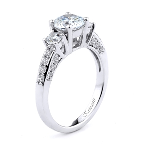 18KT.W ENGAGEMENT RING 0.81CT
