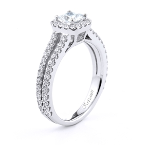 18KT.W ENGAGEMENT RING DIAM-0.66CT