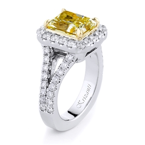 18KTW ENGAGEMENT RING, DIAMOND 1.10CT