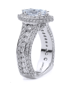 18K WHITE ENGAGEMENT RING 2.43CT