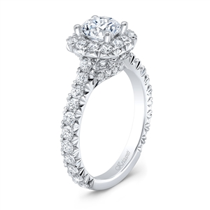 18K WHITE ENGAGEMENT RING 1.38 CT