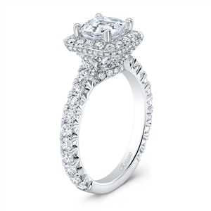 18K WHITE ENGAGEMENT RING 1.33 CT