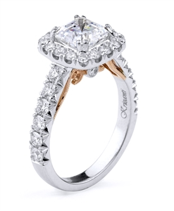 KRIZANTI 18K T.TONE ENGAGEMENT 1.00ct