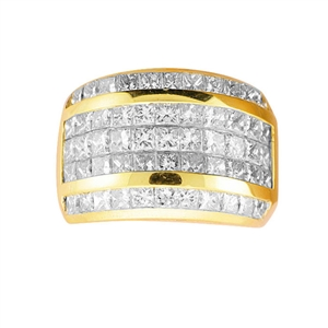 18KTY INVISIBLE SET BAND, DIAMOND 3.26CT