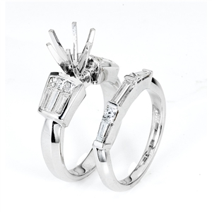 18KTW INVISIBLE SET ENGAGEMENT RING, DIAMOND 1.45CT