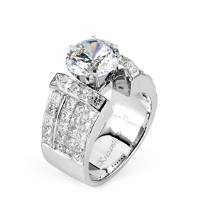 18KW INVISIBLE SET, ENGAGEMENT RING 2.90CT