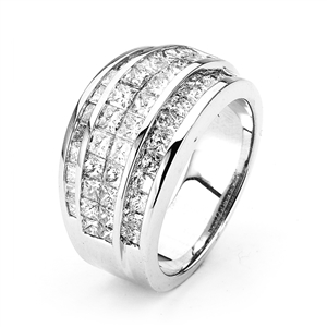 18KTW INVISIBLE SET BAND, DIAMOND 2.59CT