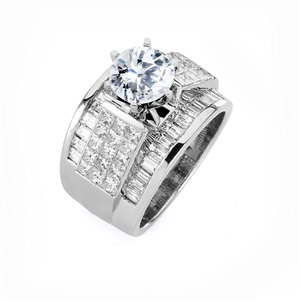18KW INVISIBLE SET, ENGAGEMENT RING  2.68CT