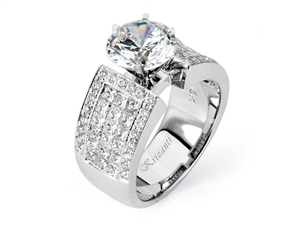 18KW INVISIBLE SET, ENGAGEMENT RING 1.95CT