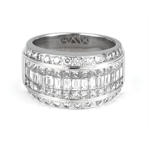 18KTW INVISIBLE SET BAND, DIAMOND 3.75CT