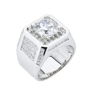 18KTW GENT'SRING DIAMOND 4.08CT