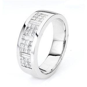 18KTW GENT'S BAND DIAMOND 1.16CT