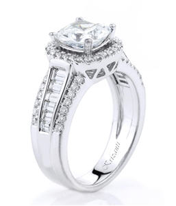18KTW ENGAGEMENT RING, DIAMOND 0.75CT