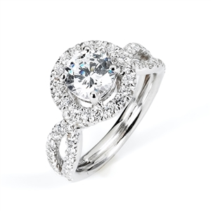 18KW ENGAGEMENT RING 0.77CT