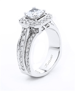 18KTW ENGAGEMENT RING, DIAMOND 0.88CT