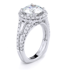 18KTW ENGANGEMENT RING, 0.94CT
