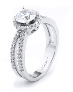 18KTW ENGAGEMENT RING 0.45CT