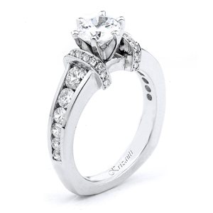 18KW ENGAGEMENT RING 0.80CT