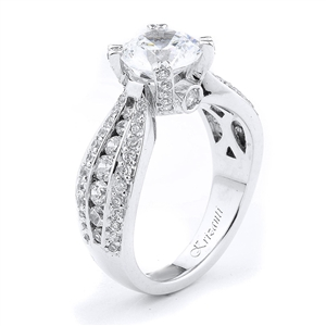 18KTW ENGAGEMENT RING 1.12CT