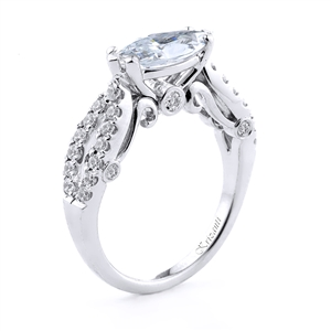 18KT.W ENGAGEMENT RING 0.48CT