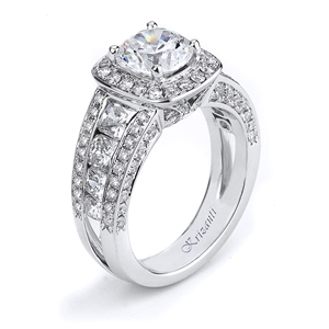 18KTW ENGAGEMENT RING,  2.30CT