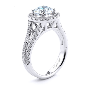18KT.W ENGAGEMENT RING DIAM-0.81CT