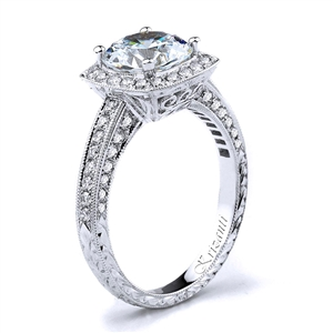 18KW ENGAGEMENT RING, DIAMOND 0.61CT