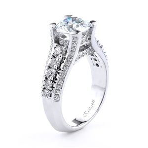 18KT.W ENGAGEMENT RING 0.94CT