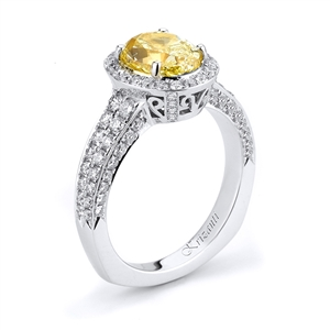 18KTW ENGAGEMENT RING 1.05CT