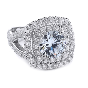 18KT WHITE ENGAGEMENT RING 2.44CT