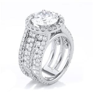 18KTW ENGAGEMENT RING 2.61CT