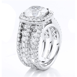18KTW ENGAGEMENT RING 3.28CT