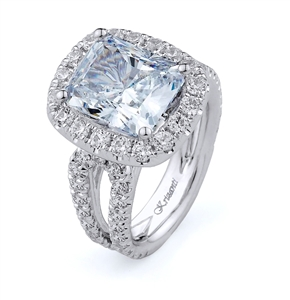 18K.WHITE ENGAGEMENT 2.33ct