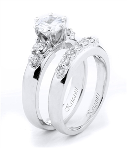 18KTW ENGAGEMENT SET, DIAMOND 0.70CT