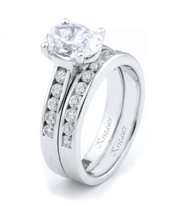18KTW ENGAGEMENT SET DIAMOND 0.85CT