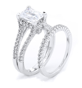 18KTW ENGAGEMENT SET, DIAMOND 0.75CT