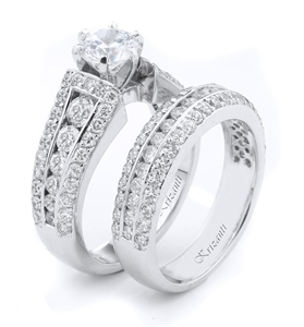 18KTW ENGAGEMENT SET, DIAMOND 2.34CT