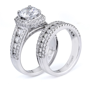 18KTW ENGAGEMENT SET, DIAMOND 2.14CT
