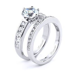 18KT.W ENGAGEMENT SET DIAM-0.80CT
