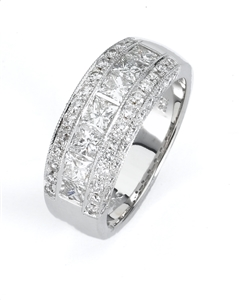 18KTW BAND DIAMOND 1.92CT