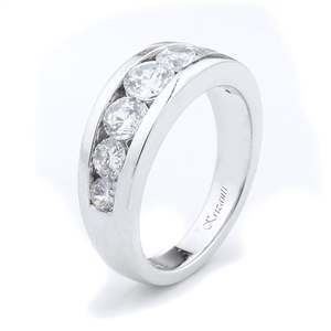 18KTW GENT'S BAND DIAMOND 1.37CT