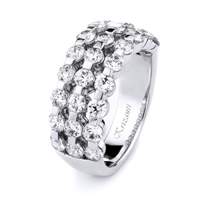 18KT WHITE BAND DIAMOND 2.15CT