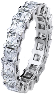 18KTW ETERNITY RING, DIAMOND 5.00CT