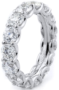 18KTW ETERNITY BAND, DIAMOND 4.95CT