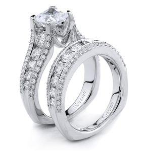18KTW ENGAGEMENT SET, DIAMOND 2.10CT