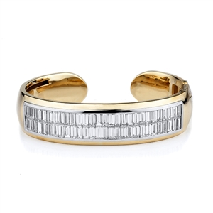 18KT 2 TONE CUFF BRACELET DIAMOND 17.25CT
