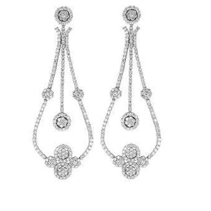 18KTW CHANDELIER EARRINGS, DIAMOND 8.90CT