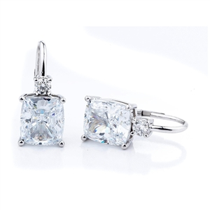 18KTW EARRINGS, ROUND DIAMONDS 0.30CT