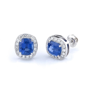 18KTW FASHION EARRINGS, ROUND DIAMOND 0.65CT